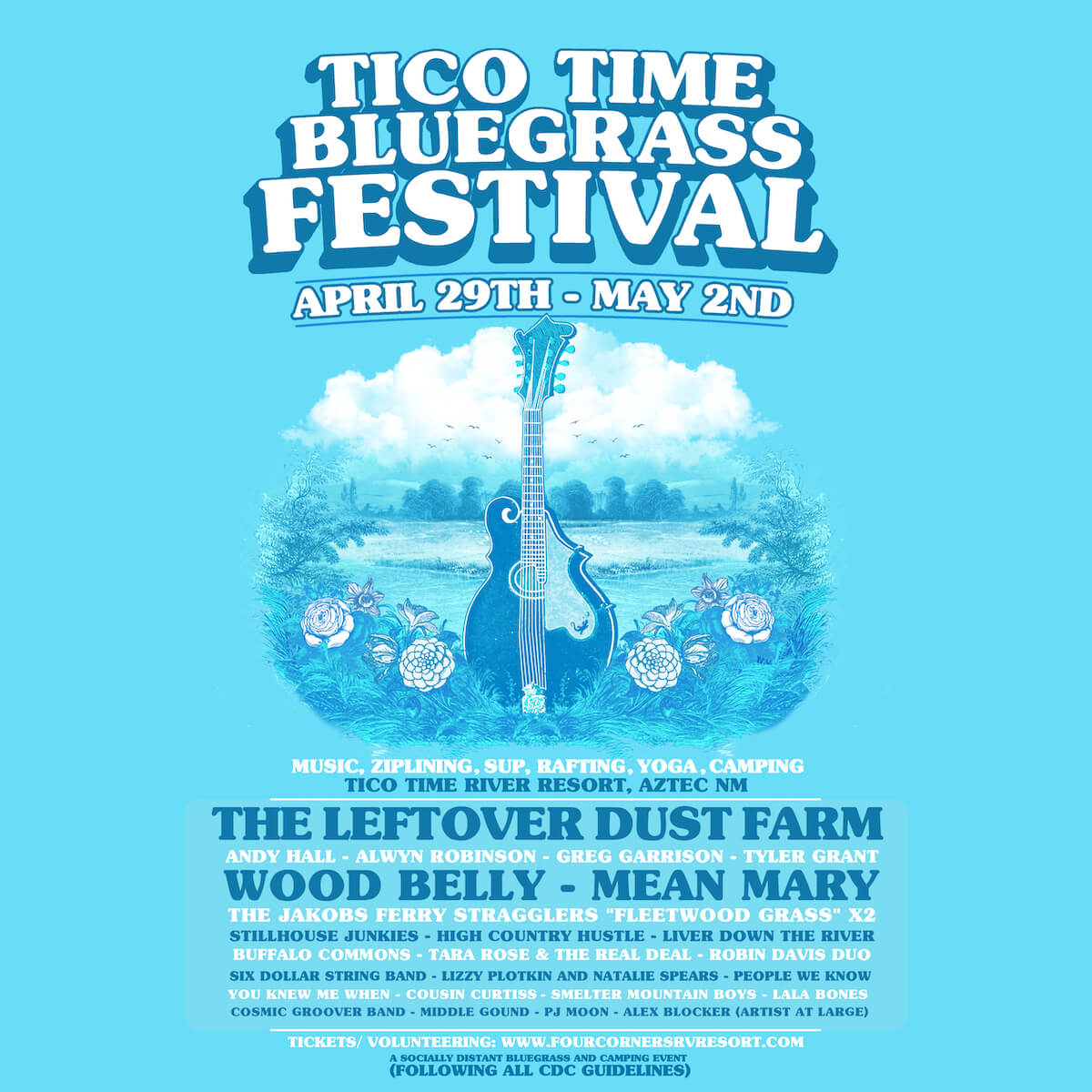 Tico Time Bluegrass Festival flyer